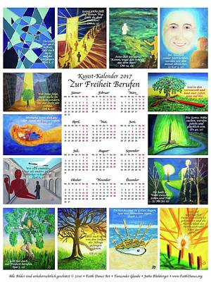 Painting - German Kalendar by Jutta B