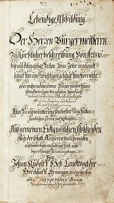 With Scripture Painting - German Manuscript On Vellum by Easter Scripture