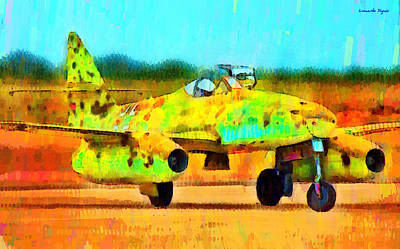 Wing Digital Art - German Messerschmitt Me 262 Hg 2 - Da by Leonardo Digenio