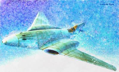 Airplane Painting - German Messerschmitt Me 262 Hg 3 - Pa by Leonardo Digenio