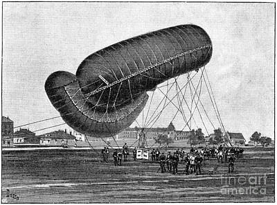 German Military Airship, 19th Century Art Print by Spl