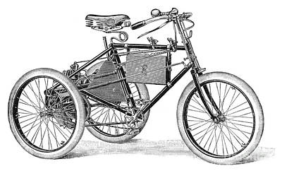 Photograph - German Motorcycle, C1900 by Granger
