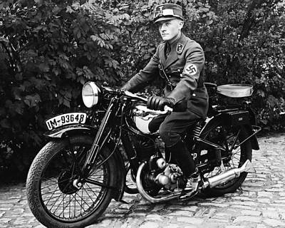 Ww2 Photograph - German Nationalist On His Iron Horse by Charles Meagher