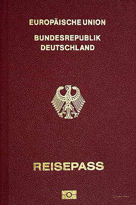 Digital Art - German Passport Cover  by Serge Averbukh