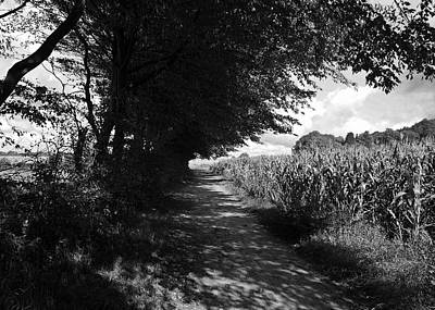 German Path Black And White Art Print by Edward Myers