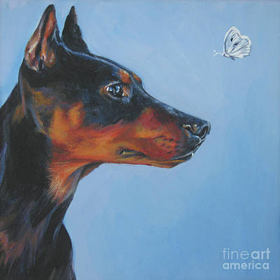 Painting - German Pinscher by Lee Ann Shepard