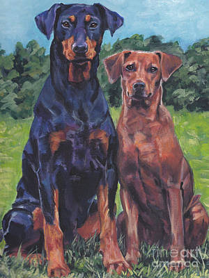 Painting - German Pinschers by Lee Ann Shepard