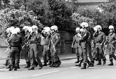 Photograph - German Polizei Riot Gear by Steven Green