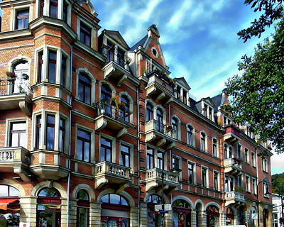 Photograph - German Residential Building by Anthony Dezenzio