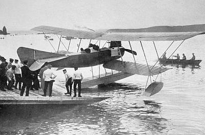 North Sea Drawing - German Seaplane Used In The North Sea by Vintage Design Pics