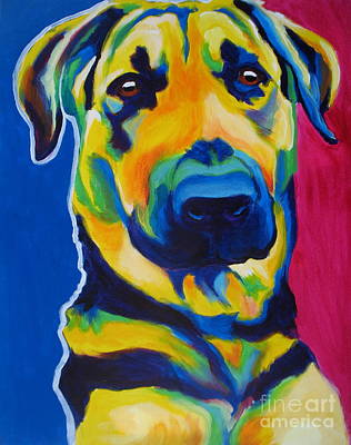 German Shepherd - Duke Original by Alicia VanNoy Call