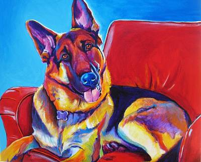 Dawgart Painting - German Shepherd - Zeke by Alicia VanNoy Call