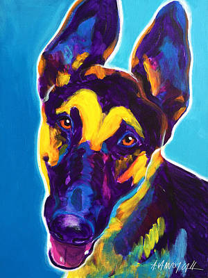 German Shepherd - Ajax Original by Alicia VanNoy Call