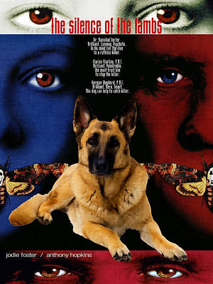 Painting - German Shepherd Art Canvas Print - The Silence Of The Lambs Movie Poster by Sandra Sij