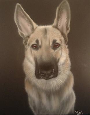 Painting - German Shepherd by Bas Hollander