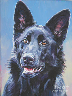 Painting - German Shepherd Black by Lee Ann Shepard