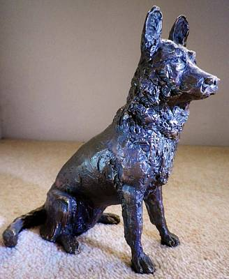 Photograph - German Shepherd Bronze By Sarah O'connor by Richard Brookes