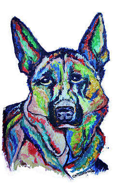 Painting - German Shepherd by Carol Tsiatsios