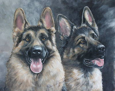 German Shepherd Original by Daniele Trottier
