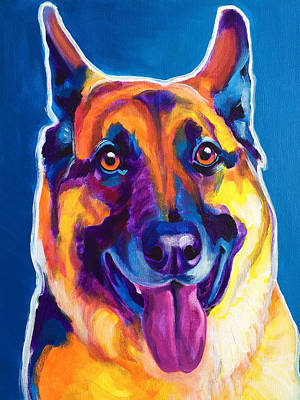German Shepherd - Hector Original by Alicia VanNoy Call