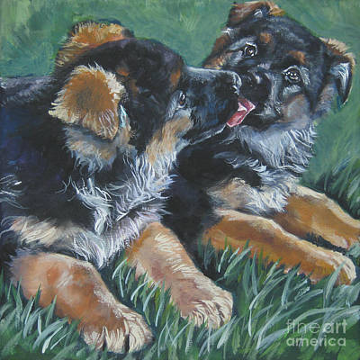 Painting - German Shepherd Kiss by Lee Ann Shepard