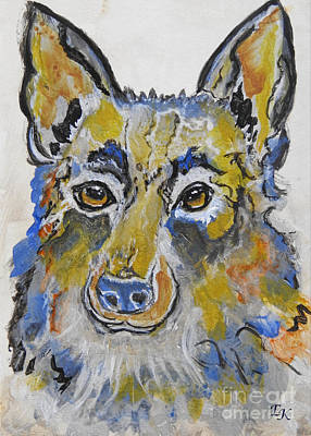 Painting - German Shepherd Painting by Ella Kaye Dickey