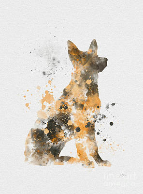 Dog Mixed Media - German Shepherd by Rebecca Jenkins