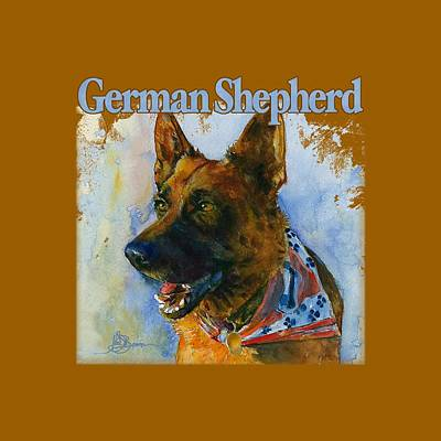 Painting - German Shepherd Shirt by John D Benson