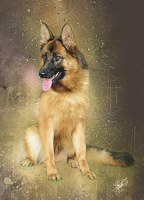 German Shepherd Original by Tom Schmidt