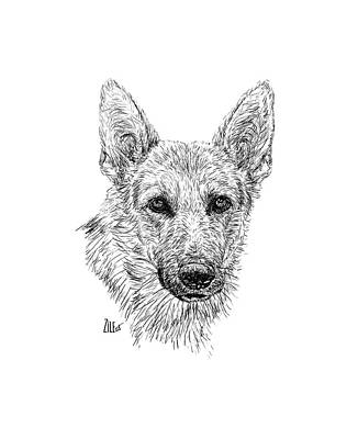 Digital Art - German Shepherd @wildnsweetluna by ZileArt