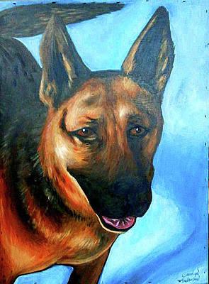 Carolyn Anderson Painting - German Sheppard  by Carolyn Anderson