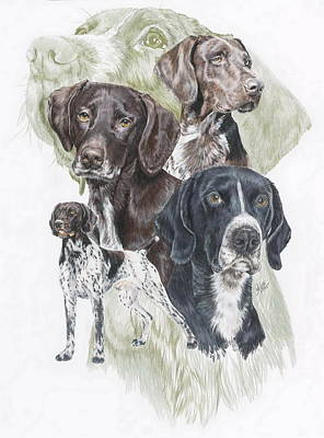 Sporting Mixed Media - German Shorted-haired Pointer W/ghost by Barbara Keith