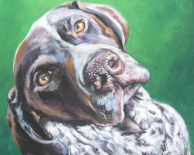 Dog Portrait Painting - German Shorthaired Pointer by Lee Ann Shepard