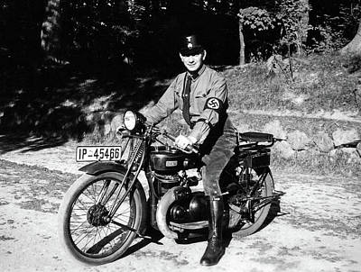 Ww2 Photograph - German Ss On His Iron Horse by Charles Meagher