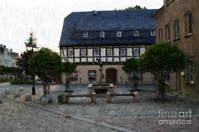 Photograph - German Town Square by Marc Champagne