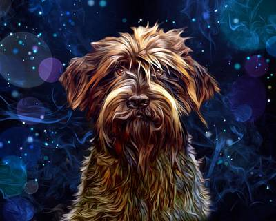 Griffon Digital Art - German Wirehaired Pointing Griffon by Scott Wallace