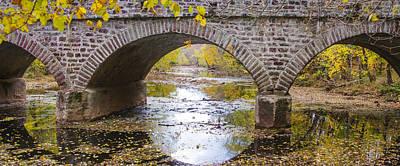 Germantown Photograph - Germantown Pike Bridge Over Skippack Creek by Bill Cannon