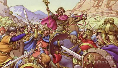 Christian Crosses Painting - Germanus, The Battling Bishop by Pat Nicolle
