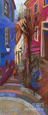 Old Street Painting - Germany Baden-baden 08 by Yuriy  Shevchuk