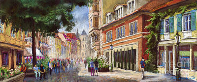 Pastels Painting - Germany Baden-baden Lange Str by Yuriy  Shevchuk
