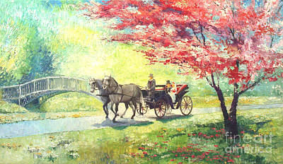 Europe Painting - Germany Baden-baden Lichtentaler Allee Spring 2 by Yuriy  Shevchuk