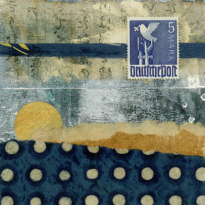 Mixed Media - Germany Dove Of Peace 1948 Collage by Carol Leigh