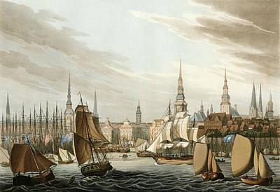 Drawing - Germany, Hamburg, 1815 by Granger