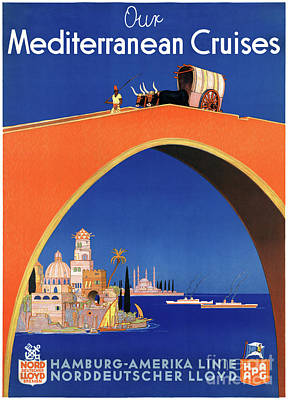 Mixed Media - Germany Hamburg Vintage Travel Poster Restored by Carsten Reisinger