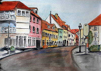 Landscap Painting - Germany  by Julie Lueders