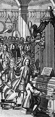 1732 Photograph - Germany: Orchestra, 1732 by Granger