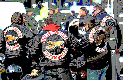 Germany Trial Hell Angels Motorcycle Club Art Print