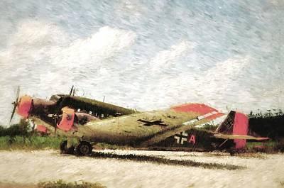 German Junkers Ju52 Painting Art Print by A R Williams
