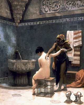 Hygiene Painting - Gerome: The Bath, 1880 by Granger
