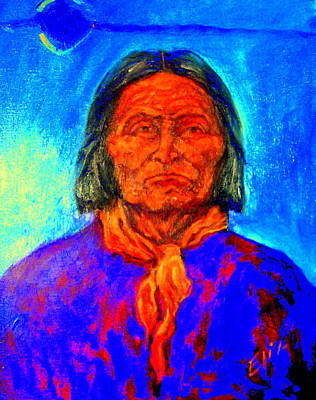 Painting - Geromino - Chiricahua Apache Leader by Johanna Elik